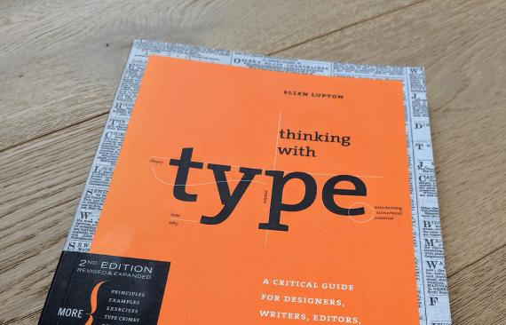 Copertina del libro Thinking With Type di Ellen Lupton