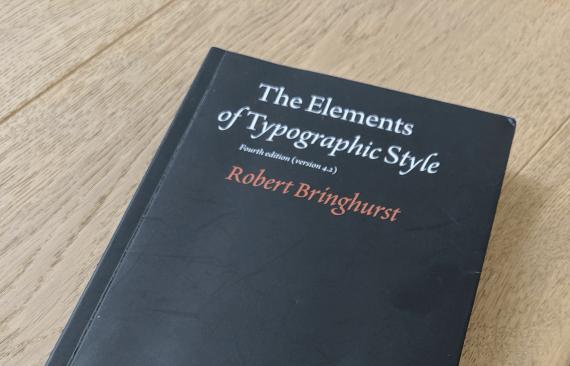 Copertina del libro The Elements of Typographic Style di Robert Bringhurst